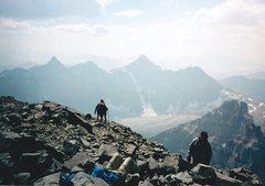 Rock Climbing Photo: Begining the descent down the SW Ridge.  Mt Deltaf...