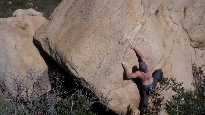 One option is to heel-hook and reach for the crack.