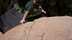 Rock Climbing Photo: this photo is as a result of the crux.