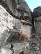Rock Climbing Photo: Hitting the good rails.