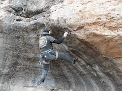 Rock Climbing Photo: Sticking the first move.