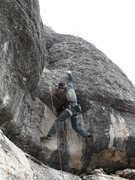 Rock Climbing Photo: Pulling the bulge.
