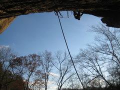 Rock Climbing Photo: belayers perspective