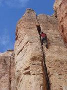 Rock Climbing Photo: Jesse workin' the offwidth.
