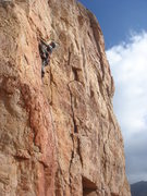 Rock Climbing Photo: Larry Rossi leading Crimpson Candy.