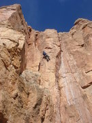 Rock Climbing Photo: Larry Rossi getting it done on Escalando.