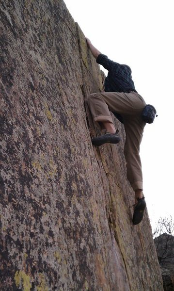 Rock Climbing Photo: Reaching the top.
