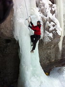 Rock Climbing Photo: The Face of Uncertainty My First Ice Climb! Spiral...
