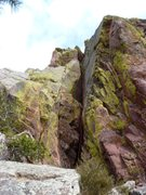Rock Climbing Photo: The awesome 3rd pitch.