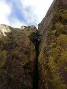 Rock Climbing Photo: 3rd pitch classic chimney.