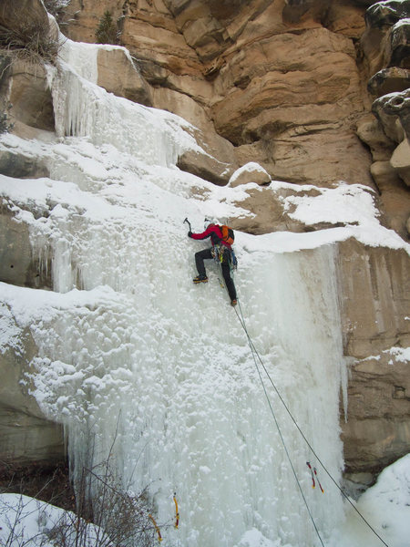 Rock Climbing Photo: Dallen on CCC Falls, P1