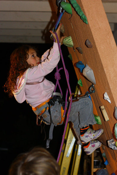Rock Climbing Photo: First Lead 2