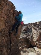 Rock Climbing Photo: Marsha nearing the finish
