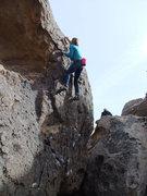 Rock Climbing Photo: Marsha on Strange boulder