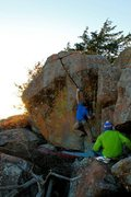 Rock Climbing Photo: The first crux move...