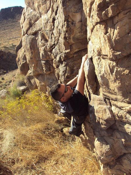 Rock Climbing Photo: Sweeper Crack V0