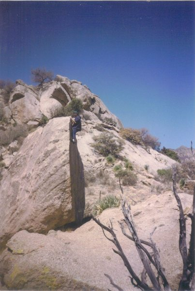 Bouldering at Aguirre Springs in the Organ Mountain Range