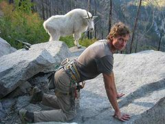 Rock Climbing Photo: Never taunt a goat