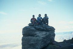 Rock Climbing Photo: Bill, Greg and Bryan on Block Top Summit