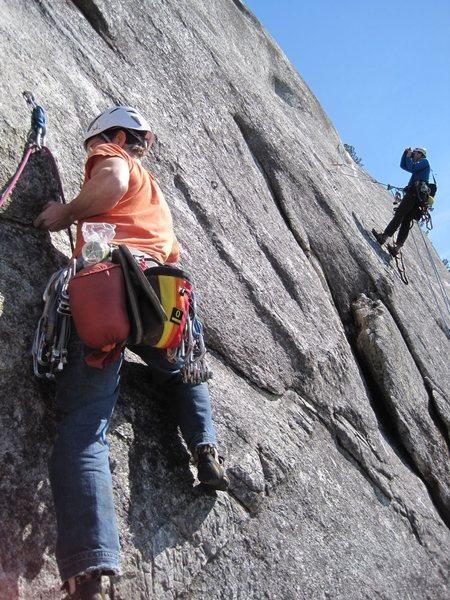 Rock Climbing Photo: pitch 8 (10c). Wild foot traverse