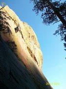 Rock Climbing Photo: Neil high up on Bazooka.