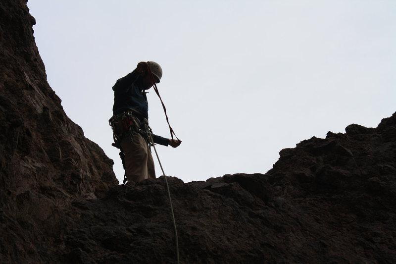 Rock Climbing Photo: A slung horn Scott's first peace of pro