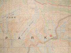 Rock Climbing Photo: North Glacier Route Mount Athabasca contour interv...