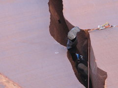 Rock Climbing Photo: sidewinder on in.. put runners on small cams to re...