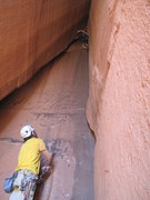 Rock Climbing Photo: fun warm up  with rad views looking out the cave. ...