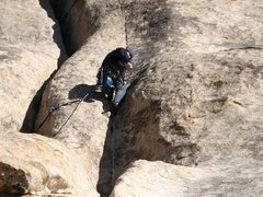 Rock Climbing Photo: Second pro placement. Note: I should have placed m...