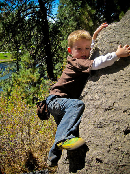 Rock Climbing Photo: Carter - Bouldering in Bend