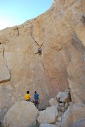 Rock Climbing Photo: Katia climbing the route on TR after Dylan and I l...