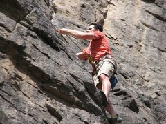 Rock Climbing Photo: Indiana's first lead - go Indiana!!!