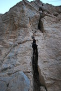 Rock Climbing Photo: Getting around the first overhang.
