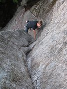 Rock Climbing Photo: entering the crux