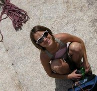 Rock Climbing Photo: Sitting at the base of the Bong, after another suc...