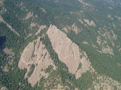 Rock Climbing Photo: First and 2nd from a glider.