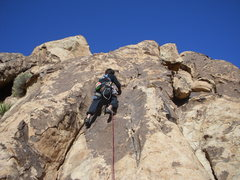 Rock Climbing Photo: The first section of the climb