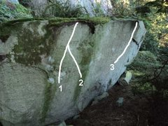 Rock Climbing Photo: 1. Sidewinder 2. Atom Smasher 3. THe Big Chill Dyn...