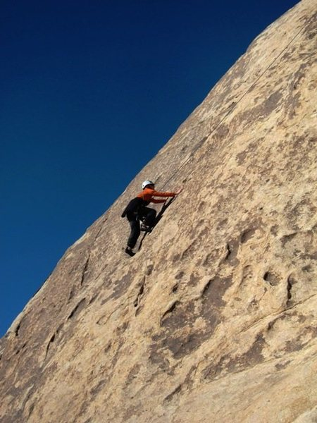 Rock Climbing Photo: Patty catches a lap on OBS on the last (and cold!)...