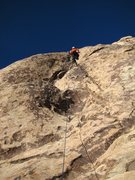 Rock Climbing Photo: Patty mastering on the last day of 2010.
