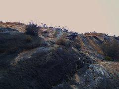 Rock Climbing Photo: Around the last bolt