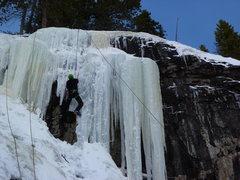 Rock Climbing Photo: Thin, but fun to TR on 1-2-10.