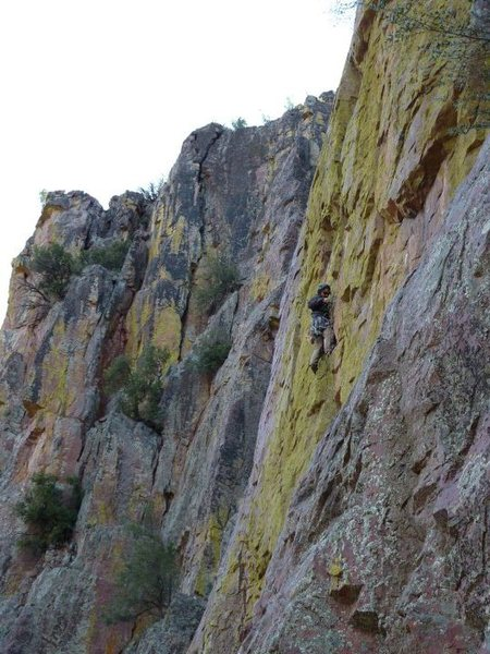 """Moderate trad line.  Gotta love """"No Hands"""" gear placements in an amazing and  beautiful spot.  Thanks to the Developers that keep putting up fantastic lines for me."""