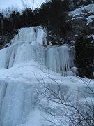Rock Climbing Photo: Estonie Left WI4 2010-12-29