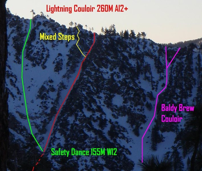 Lightning Couloir<br> Photo By Ryan Dacey