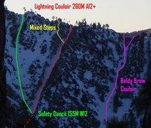 Rock Climbing Photo: Lightning Couloir Photo By Ryan Dacey