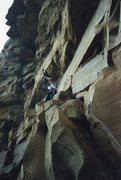 Rock Climbing Photo: Here is another old photo of the sandstone cliff n...
