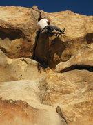Rock Climbing Photo: Tony Bubb follows Joseffa Meir past the crack and ...