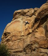 Rock Climbing Photo: The actual crux of Rollerball is arm and leg-lengt...
